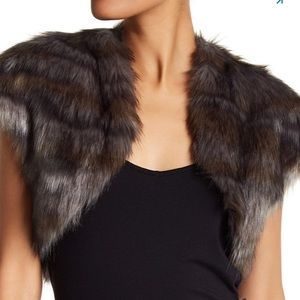 Ramy Brook faux fur shrug